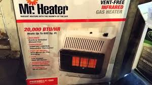 Gas Heater Wall Mount Mr Heater And Cedar Ridge Hearth Reviews Youtube