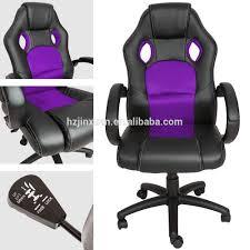 Gaming Chair Leather Top Gamer Ergonomic Gaming Chair Black Purple Swivel Computer Desk