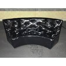 Leather Tufted Sofa Black Patent Leather Tufted Sofa Bench Chairish