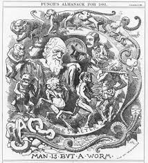 caricatures of charles darwin and his evolutionary theory in 19th
