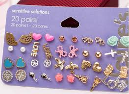 sensitive solutions earrings s min order 10 stud earring pack set 20 pairs birdicecream
