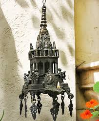 hindu l vintage hanging architectural miniature of the hindu temple with