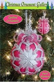 Quilted Christmas Ornaments To Make - quilted christmas ornament pattern pdf by christmasornament 4 95