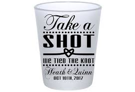 The Knot Favors by Take A We The Knot 1a Custom Frosted Glasses