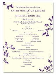 unique wedding program templates unique wedding programs on premium paper pretty leaf by