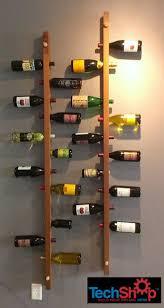 fabulous wood wine wall rack wall mounted vertical wood wine rack