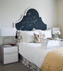 35 bedrooms that revel in the beauty of chalkboard paint transitional bedroom with a chalkboard paint headboard design i3 design group