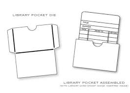 library cards and pockets has also designed a companion library pocket die to
