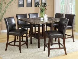 7 piece counter height dining set in espresso finish by crown mark