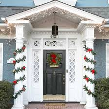 decorations brilliant front door decor for christmas with pillar