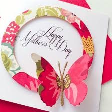 happy s day multi coloured floral design with butterfly