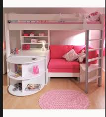 Bunk Bed Futon Desk Astounding Bunk Bed With Sofa And Desk Underneath 64 In Modern