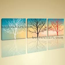 Home Decor Tree Canvas Wall Art Print Abstract Tree Contemporary Home Decor Framed