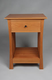 contemporary craftsman nightstand red birch designs