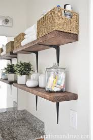Build Wall Shelves Without Brackets by
