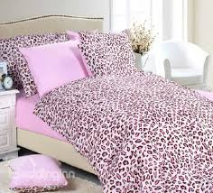 pleasing pink leopard print bedding wonderful home decoration