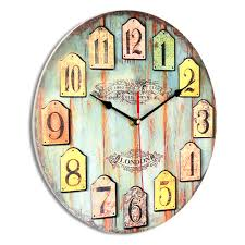 diy large wooden wall clock home decor shabby chic rustic retro