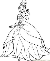 princess tiana coloring free disney princesses coloring