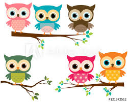 vector collection of owls and tree branches buy this