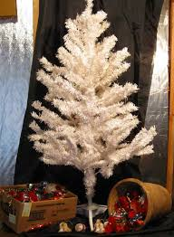 white tree with ornaments