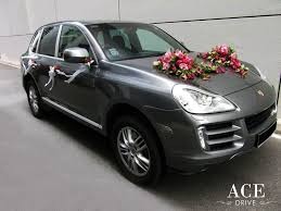 porsche suv white 2017 porsche cayenne s wedding car decorations