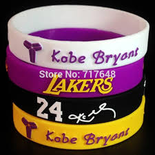 rubber cuff bracelet images 1pc kobe bryant wristband silicone bracelets embossed printed jpg