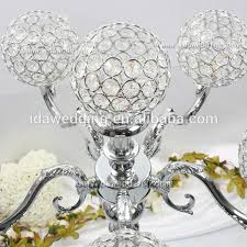 handmade crystal ball center piece led light table top chandelier centerpieces for weddings and event