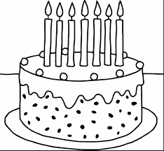 beautiful birthday cake printable coloring pages with birthday