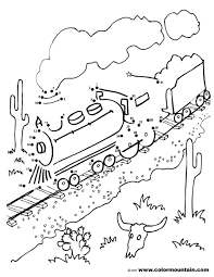 train dot to dot coloring sheet create a printout or activity