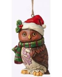 slash prices on jim shore heartwood creek owl with santa