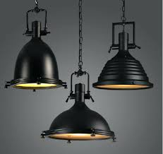 Industrial Dome Pendant Light Large Industrial Metal Pendant Lights Dome Light Black Spherical