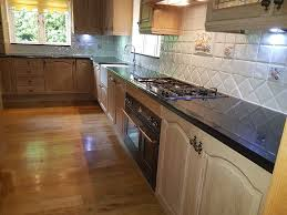 Limed Oak Kitchen Cabinets Used Optiplan Limed Oak Kitchen Units Granite Worktops In