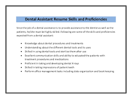 dental assistant sample resume 16 fields related to pediatric