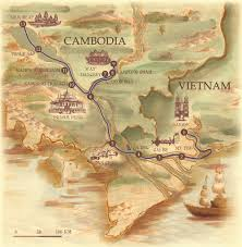 Mekong River Map The Jahan Mekong Cruise Itineraries Rainforest Cruises