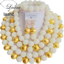 big pearl necklace wedding images Brand laanc big necklace bridal imitation pearl jewelry set jpg