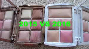 hourglass ambient lighting edit palette then now holiday palettes hourglass ambient lighting edit vs