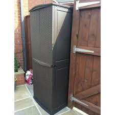 keter plastic rattan garden storage box anthracite or brown waterproof