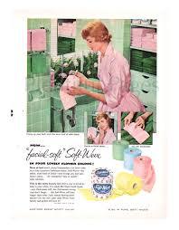1956 scott soft weve tissue vintage ad 1950 u0027s bathroom