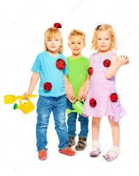 ready for spring little kids u2014 stock photo serrnovik 24686793
