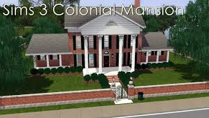 colonial mansion sims 3 colonial mansion youtube