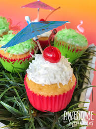 easy piña colada cupcakes with fluffy coconut frosting awesome