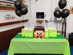 minecraft party decorations diy minecraft party mimicutelips
