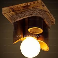Bamboo Ceiling Light Rustic Bamboo Fixture E26 E27 Porch Ceiling Lights