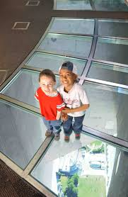 the cn tower glass floor in toronto canada you can stand and look
