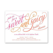 bridal shower invitation sweet and spicy bridal shower invitation invitations by