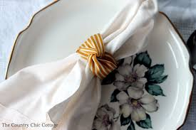 5 thanksgiving napkin ring ideas the country chic cottage