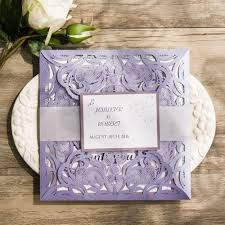 compare prices on lavender wedding invitations online shopping