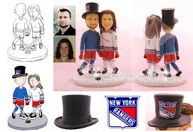 hockey cake toppers hockey wedding cake toppers new york rangers hockey cake toppers