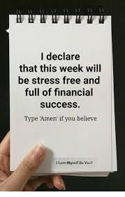 I Love L Meme - l declare that this week will be stress free and full of financial