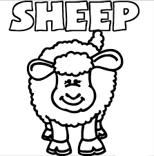 sheep coloring 99coloring clip art library